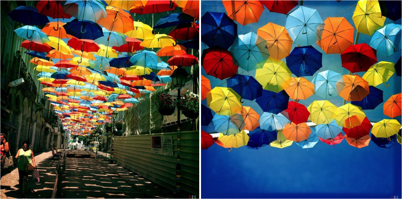 Agueda, Portugal – Umbrella Art installation by Ivo Taveres Studio